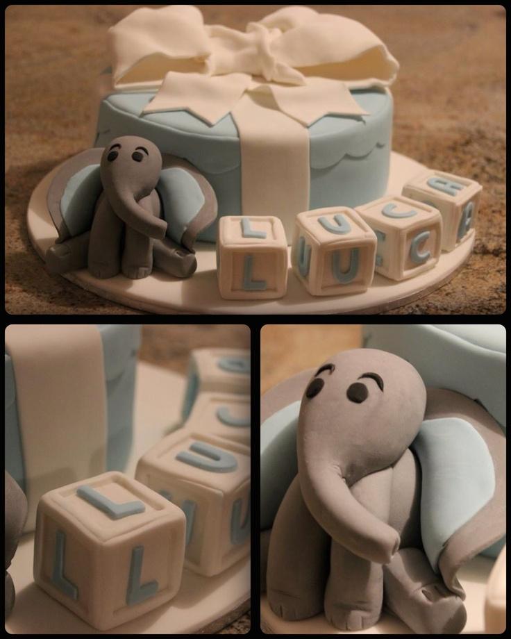 Little boys christening cake