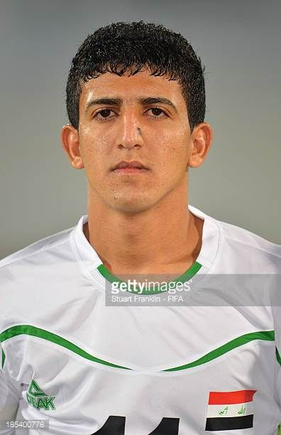 Amjed Attwan of Iraq looks on during the FIFA U17 World Cup group F match between Iraq and Sweden at Khalifa Bin Zayed Stadium on October 19 2013 in...