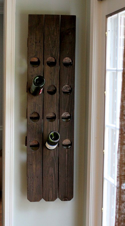 Wine rack from fence planks.