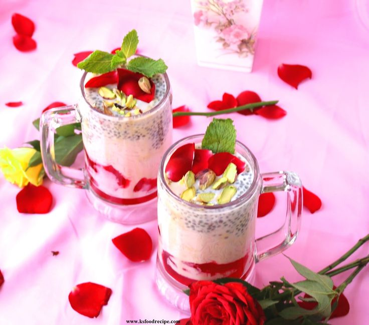 The Delicious Homemade Royal Falooda Recipe  Falooda is one dessert beverage which is our favorite. It is most popular North Indian drink. Falooda Recipe with ice cream layered summer dessert beverage made with milk, rose syrup, sabja seeds, falooda sev, dry fruits & ice cream.  http://www.ksfoodrecipe.com/falooda-recipe-royal-rose-faluda/ #Falooda #Desserts #summerspecial