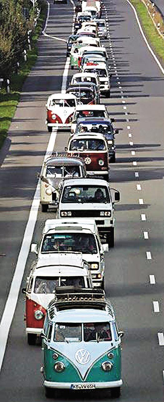 VW T2 Erinnert michan Frankreich Urlaub mit einer Meute T3-T5 *seufz* Ein Herz für Bullies