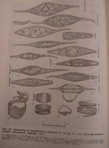 Rings from Novgorod - 9-10th centuries. Седова М.В. Ювелирные изделия древнего Новгорода x_xvвв.