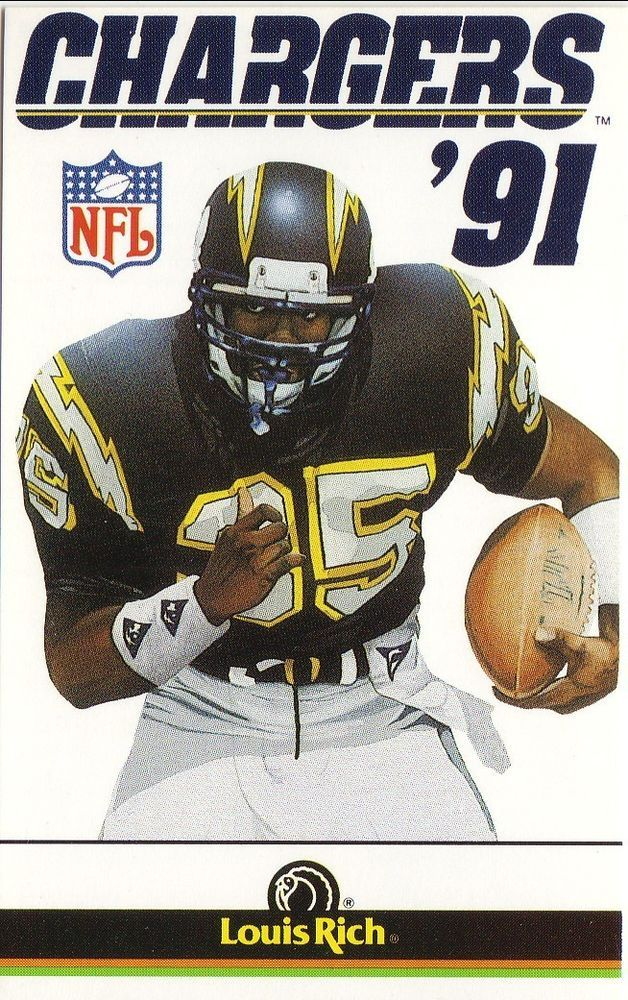 marion butts--1991 san diego chargers schedule--louis rich from $0.99