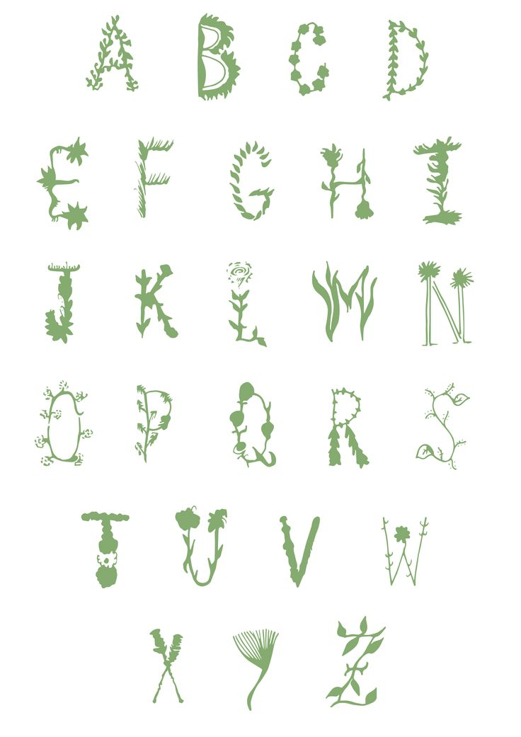 Spring inspired Typeface by Erin Erratic