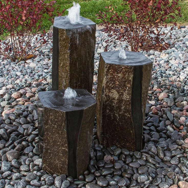 Basalt Column Fountain Kit Semi Polished 9