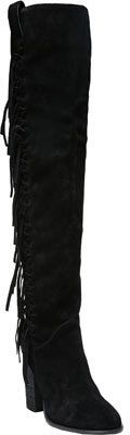 Women's Carlos by Carlos Santana Garrett Thigh High Boot - Black Leather Boots