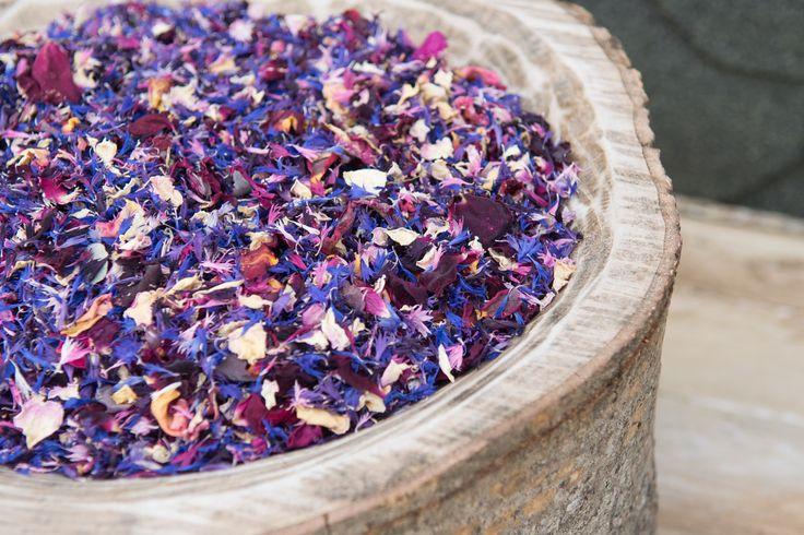 Natural Flower Confetti from the Cornish Gardens Confetti Company