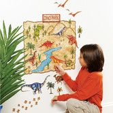 Love this idea for kids's room!  AllModern - Dino Park Interactive Vinyl Peel and Stick Wall Mural.  Kids can peel and stick the dinosaurs!
