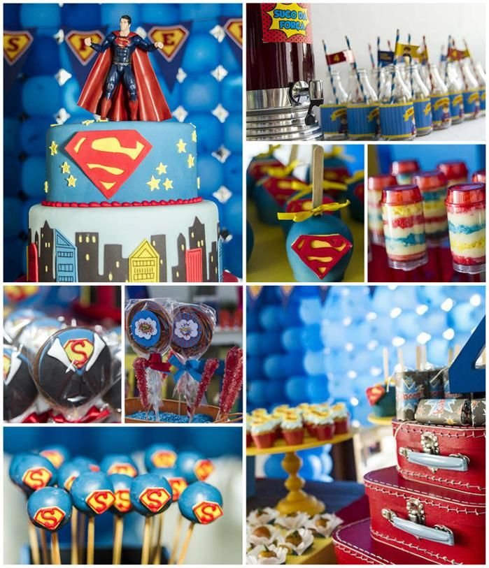 Superman Themed Birthday Party with So Many FABULOUS IDEAS via Kara's Party Ideas