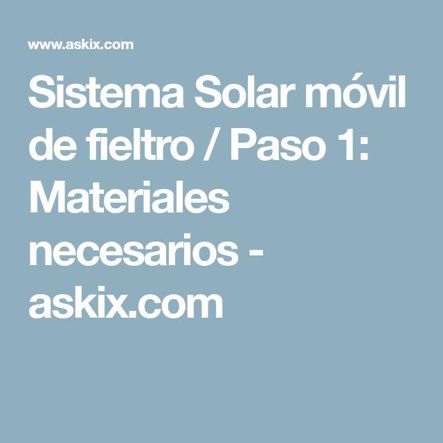 Sistema Solar móvil de fieltro / Paso 1: Materiales necesarios - askix.com