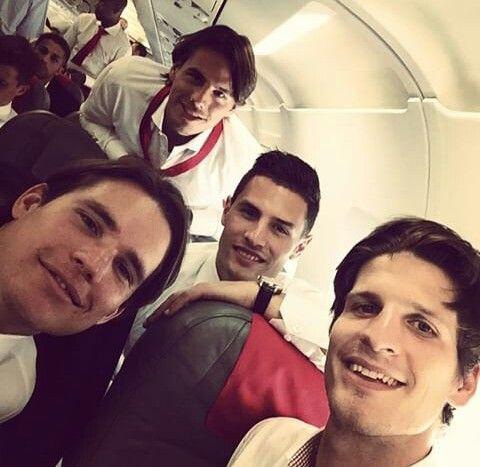 Swiss Football Team ⚽ Yann Sommer, Fabian Schär, Marwin Hitz and Timm Klose