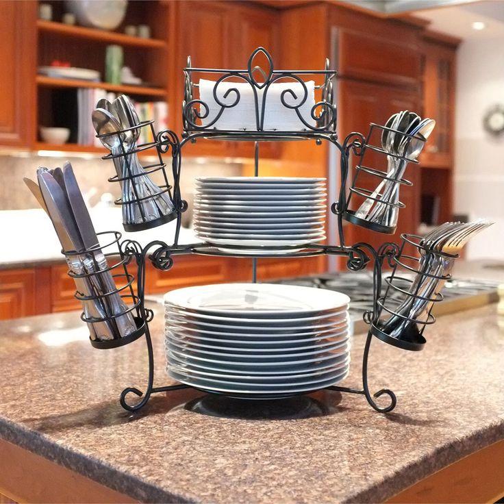 Kitchen Utensil Set Skinny Island 7 Piece Stack & Serve Buffet - Sam's Club   Serveware ...