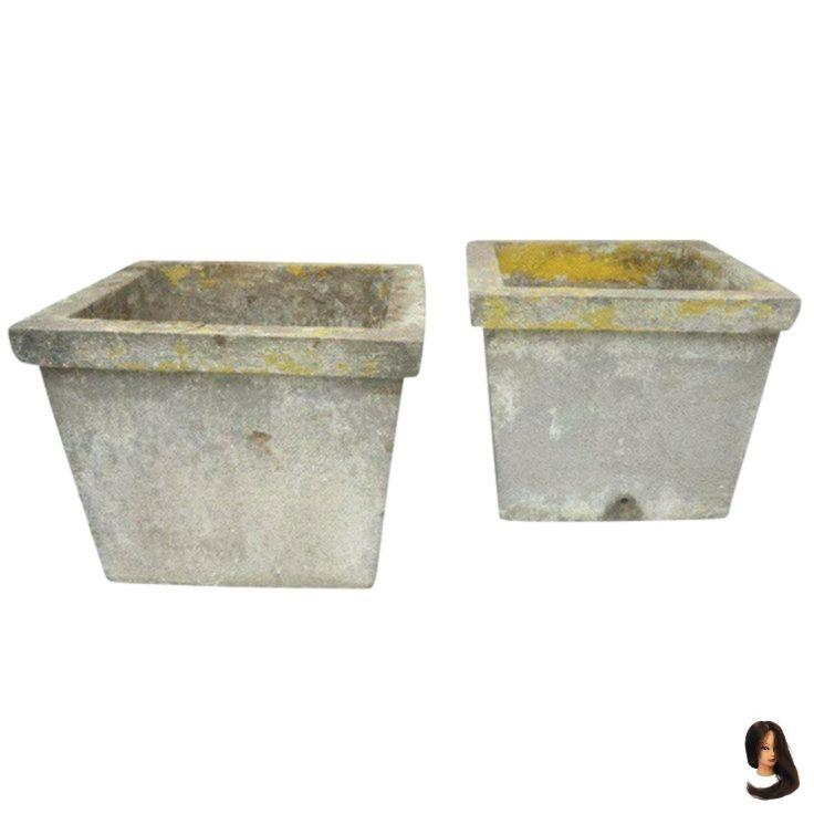 Antike Franzosische Zement Pflanzgefasse Pflanzgefasse Sukkulente Topfe Zement