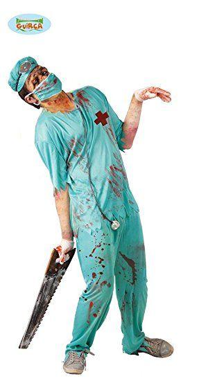 Zombie Chirurg Arzt Kostüm für Herren Gr. M/L, Größe:M/L