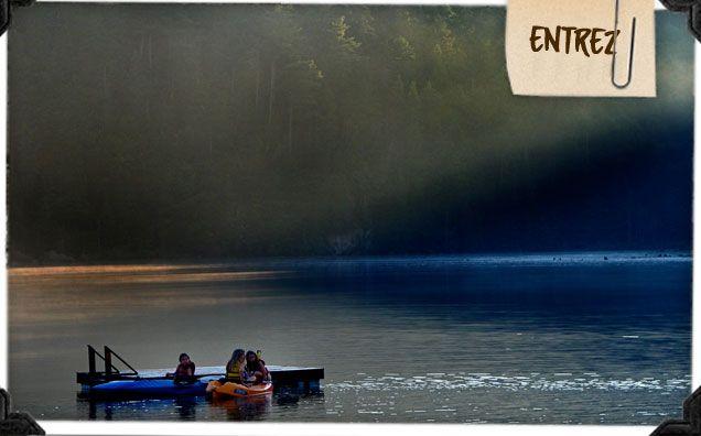 Accueil du Lac Castor (location auberge, chalet, huttes, camping, yourtes, chalet de création) Saint-Paulin en Mauricie, vacances famille, Plein-air, Lac à l'épaule, Québec Canada