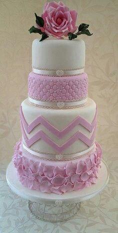 Wedding Cake, pink, white