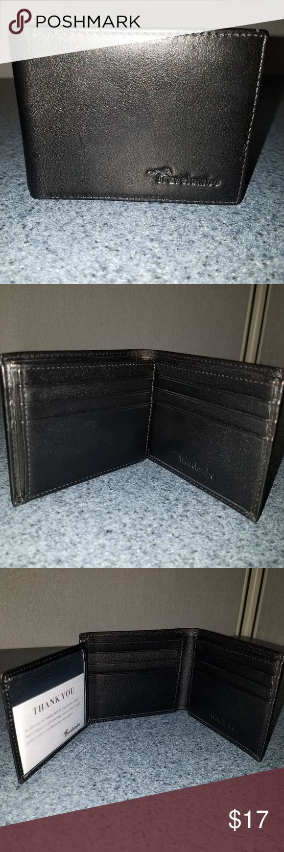 Travelambo Genuine Leather RFID Blocking Wallets M 4.6 X 3.7 in. WHAT IS RFID? - RFID is the use of radio waves between devices to transfer data. Credit cards, payment cards, and driver's licenses all use RFID WHY USE A RFID WALLET? - Personal information on these cards is vulnerable to theft by pickpockets using RFID scanners unless you have the special linings provided by a RFID blocking wallet STAY PROTECTED -  RFID wallets are lined with enhanced RFID blocking layer to offer complete…