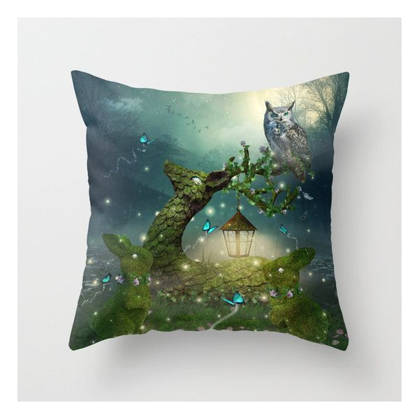 Keeper Of The Enchanted - Spring Thaw Throw Pillow ($20) ❤ liked on Polyvore featuring home, home decor, throw pillows, animal throw pillows, anchor home decor, anchor throw pillows, spring throw pillows and spring home decor