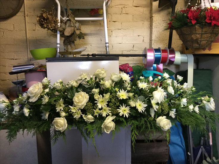 Funeral spray for top of coffin