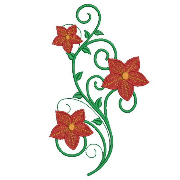 Flower embroidery design digital download by GretaembroideryShop on Etsy