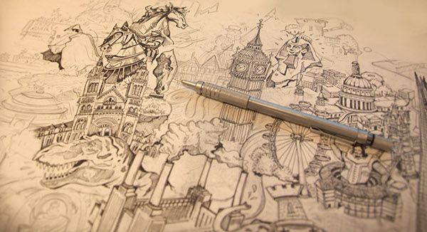 Illustrated Map of London- Great Little Place on Behance