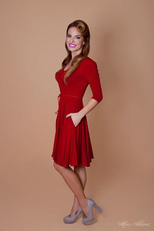 Červené bambusové šaty Ruženka  82110b5138