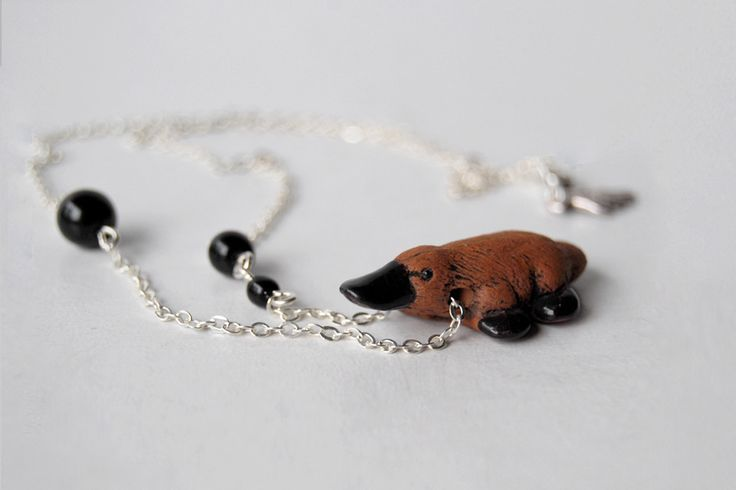 Darling Platypus Necklace by EnchantedLeaves.com