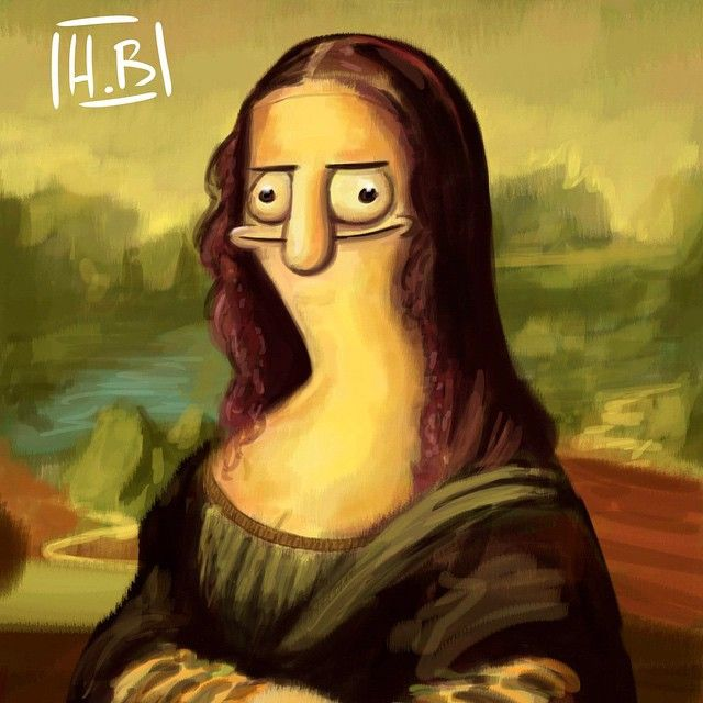 Mona Lisa... kind of... Another derpy sloppy painting ...