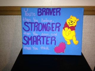 Winnie the Pooh Quote Canvas. This would be really cute is a baby's room...or for a baby shower gift!