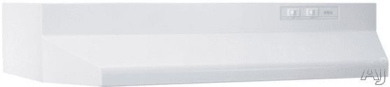 Broan 413601 36 Inch Under Cabinet Range Hood with 2-Speed Controls and Recirculating Ventilation: White