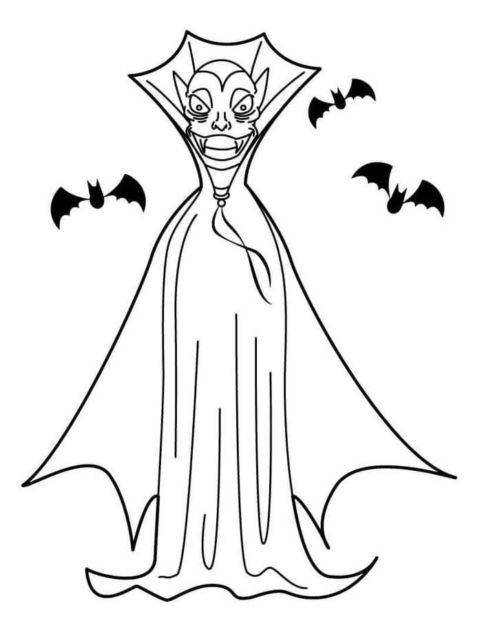 Vampire Coloring Pages Collection Free Coloring Sheets