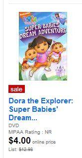 *Stocking Stuffer* Dora DVD $3.24 at Target w/ new coupon!