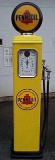 Click for more information about Pennzoil Gas Pump Clock Face Gas Pumps Gas Pumps