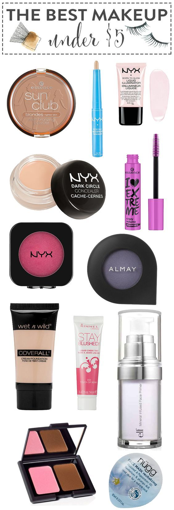 7 Five Dollar Makeup Products You'll Wish You'd Known
