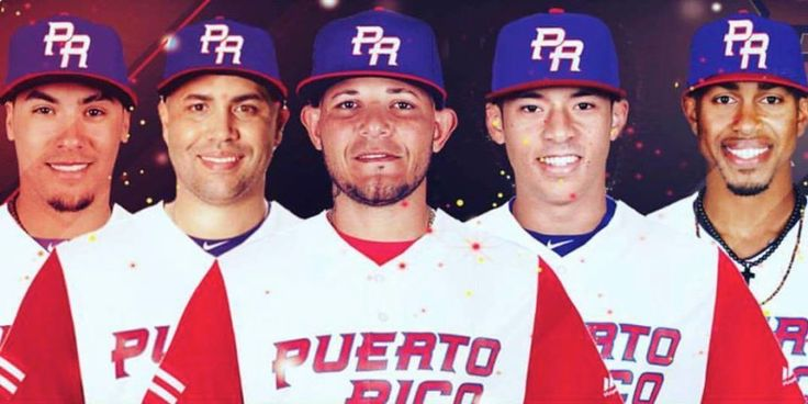 Part of the Puerto Rico team in the 2017 Classic... Javier Baez, Carlos Beltran, Yadier Molina(M4), Carlos Correa and Francisco Lindor