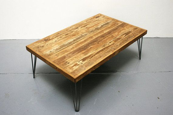 Reclaimed Wood Coffee Table Industrial Coffee Table by CaisleyCo