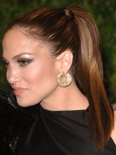 #Jennifer Lopez Hairstyles | Sleek-High-Ponytail | Click on photo to read more ..