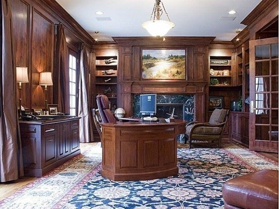New Broncos QB Peyton Manning's Denver home office.