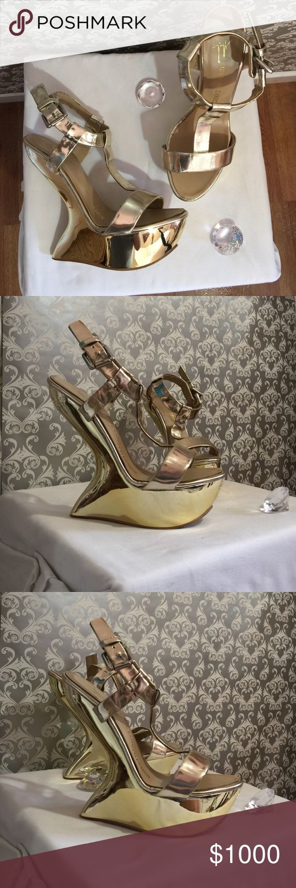 Giuseppe Zanotti Design gold heels Has use in really good condition please comment for q&a Giuseppe Zanotti Shoes