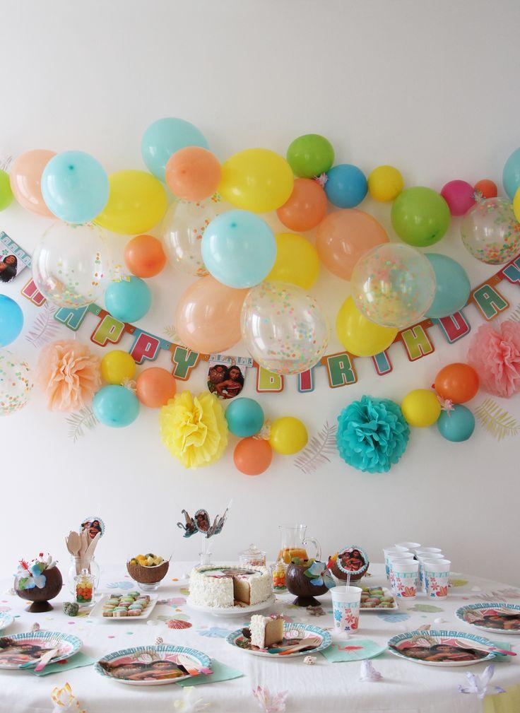 Table, déco pour anniversaire, fête, party, sur le thème Vaiana (par