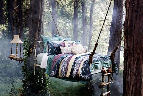 Gypsy Haven: Wood Beds, Ropes Ladder