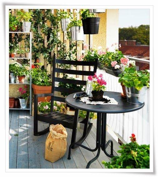 Recortes Decorados: Balcones listos para la primavera