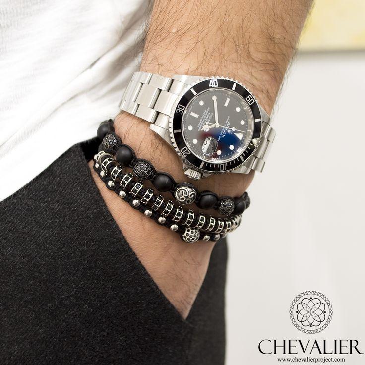 Chevalier Combination: Royal CZ - White Gold CZ Diamonds - White GOld CZ Diamonds Macrame www.chevalierproject.com