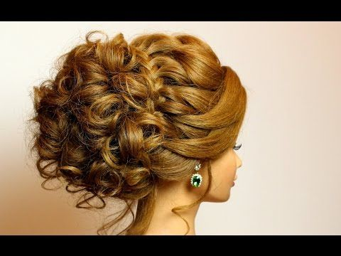 Prom bridal updo. Romantic hairstyle for long medium hair tutorial - YouTube
