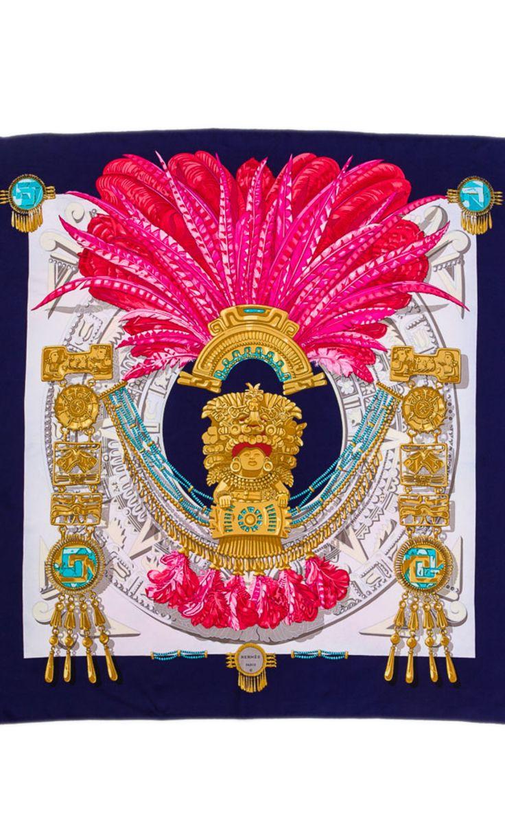 Hermès Blue And Pink Scarf   VAUNTE
