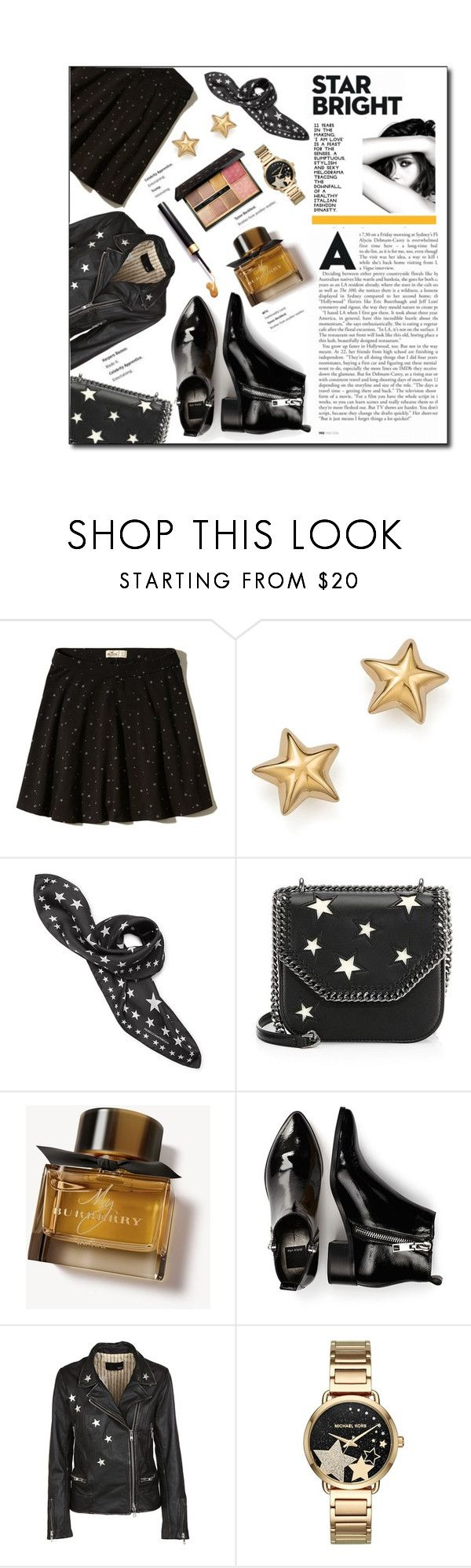 """""""The Shooting Stars"""" by atikazahra on Polyvore featuring Hollister Co., Bloomingdale's, Chanel, STELLA McCARTNEY, Burberry, Dolce Vita, Bully, Michael Kors, Guerlain and StarOutfits"""