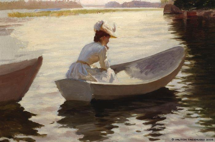 Edelfelt, Albert  Dam i båt (inv.kirja), 1886
