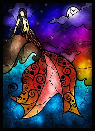 """""""The Little Mermaid"""" by Mandie Manzano. Would love to order a print of this for my apartment."""