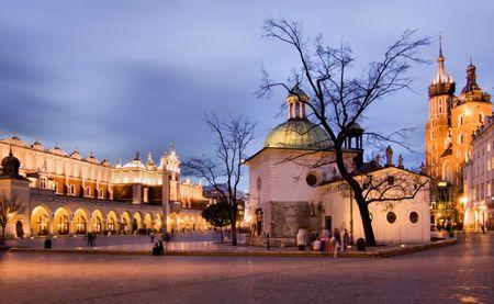 Photo by ThinkStock: Market Square – Krakow, Poland