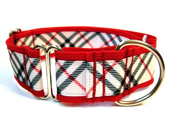 """Martingale 1.5"""" plaid dog collar, $22 from Dogologie on etsy - they have some fab collars!"""